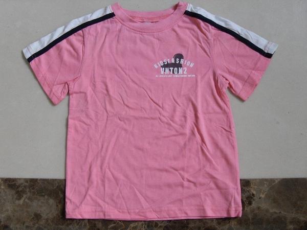 (n)全新女童粉紅短袖T恤(圖一)正面