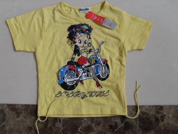 (n)全新女童黃色T恤上衣(6號)圖三