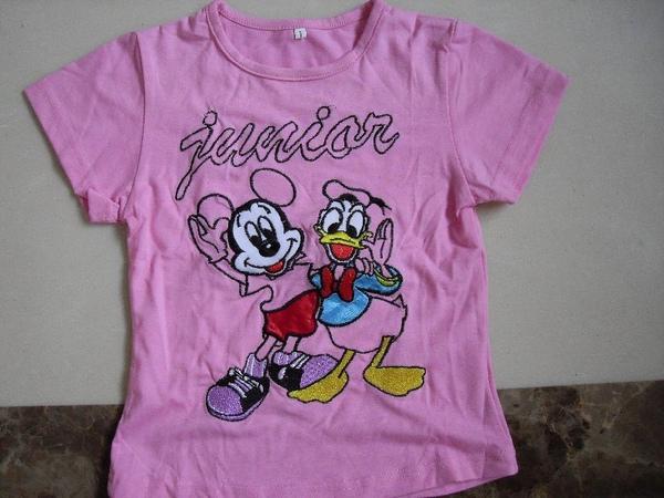 (n)全新女童粉紅迪士尼T恤上衣(7號及9號)圖一