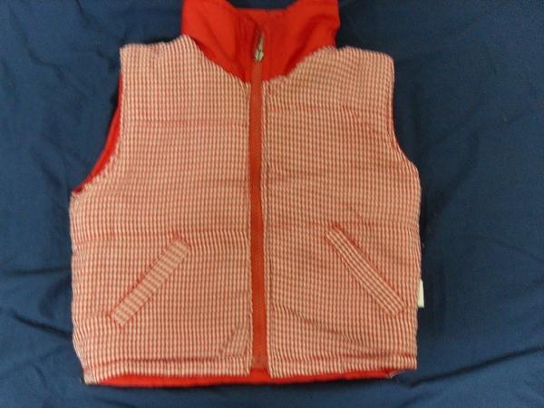 (n)雙面穿的鋪棉背心(約2~3才女童可穿)圖三