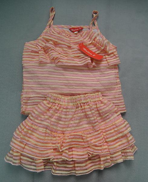 (n)桃色蛋糕層次兩件女童套裝(5號)圖一