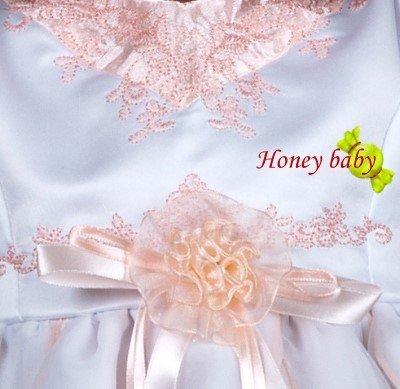 (n)轉賣~HoneyBaby~NO.175~,花童服,附帽子(粉橙色)圖三
