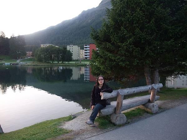 早晨的聖莫里茲湖