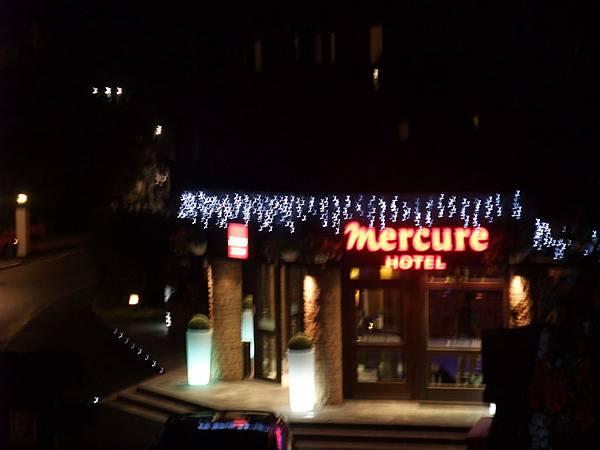 霞慕尼飯店的夜景