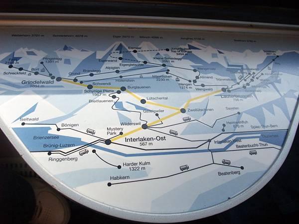 火車上地圖