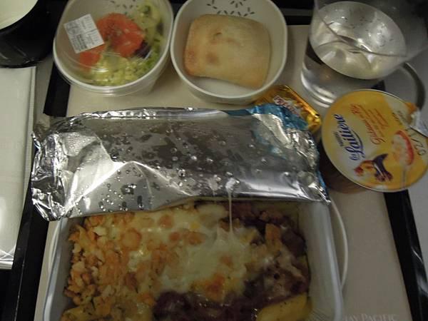 巴黎往香港的飛機餐.JPG