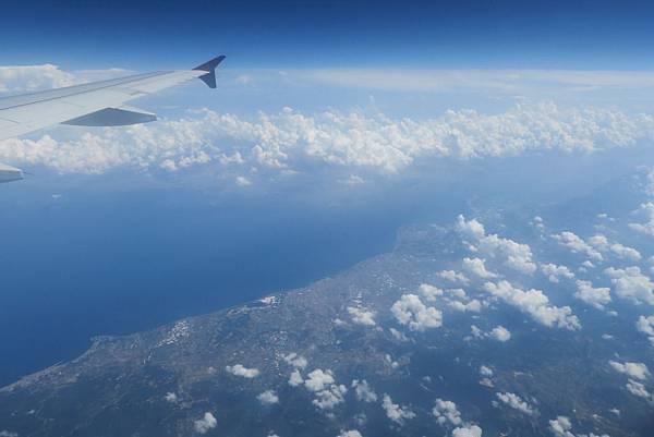 飛往塞薩洛尼基之窗外景色 (3).JPG