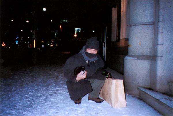 雪夜的貓2003小樽a.JPG
