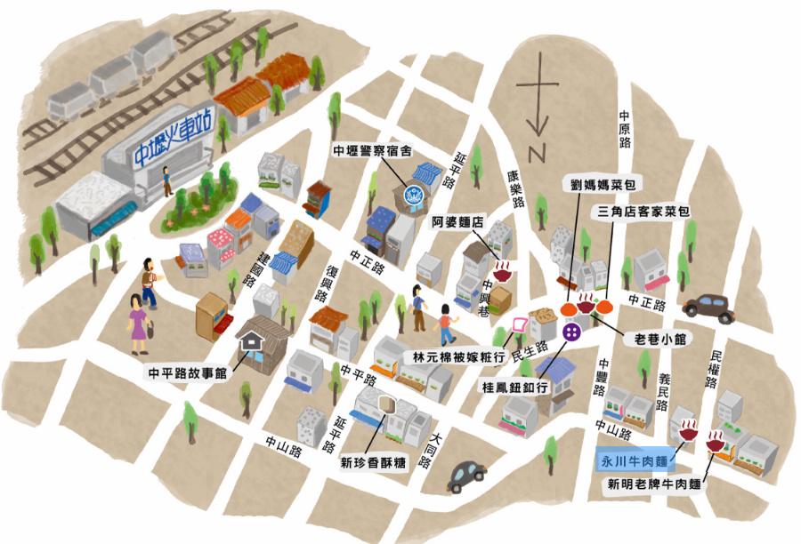 20130422_中壢散步地圖