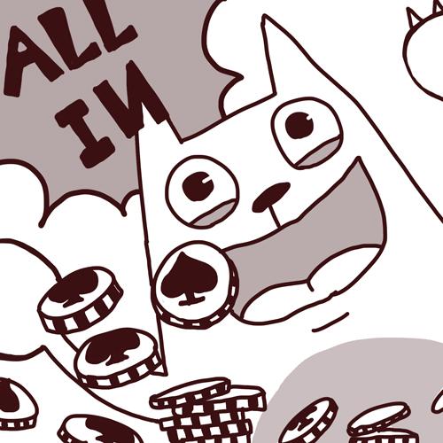 You8 online-德州撲克-20110331-愛瘋狗言充滿挑戰的人生才有樂趣.jpg