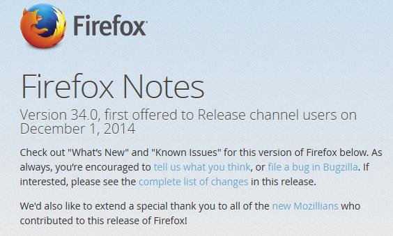 Firefox 34.0