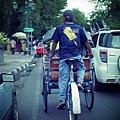 日惹街上的人力車