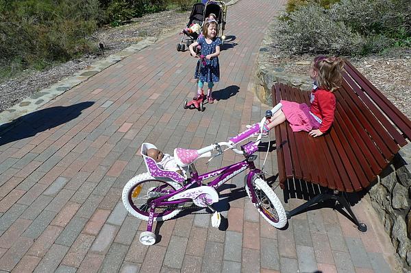 可愛的外國小妹妹,腳踏車後面還有載娃娃.JPG