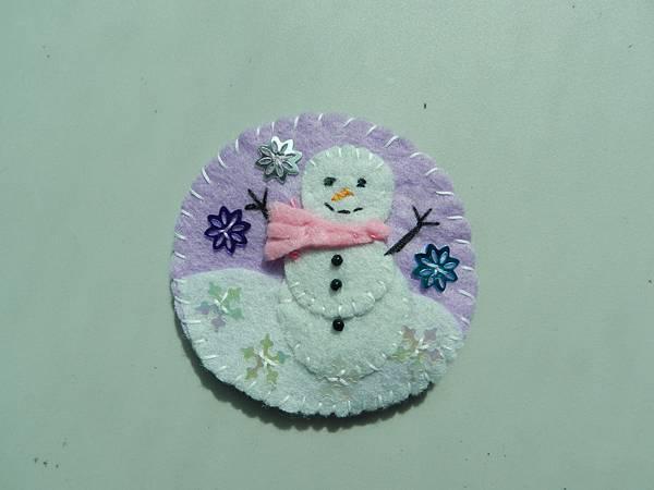 Snowman Brooch