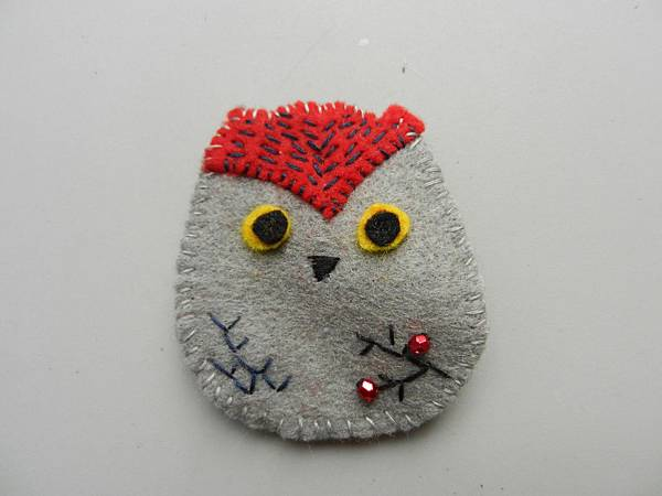 Winter Owl Brooch1