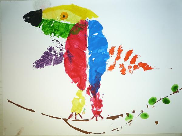 Leaf Print Parrot.JPG