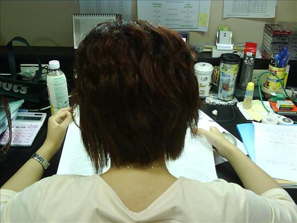 day4我終於可以洗頭的背影