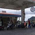 蘭嶼島上的唯一加油站