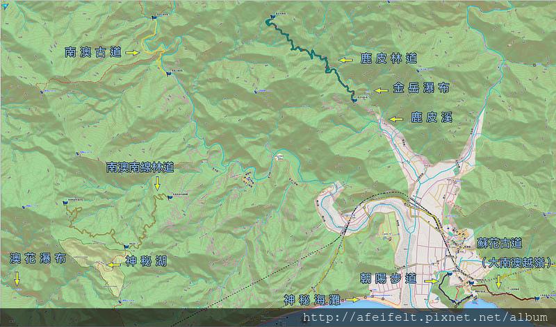 003、南澳地區路線圖