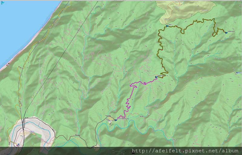 003、規劃:武塔派出所-南澳南線林道終點路線2D圖