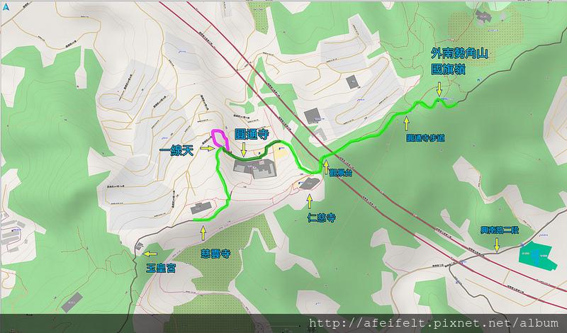 021、標示軌跡三:中和步道O型:圓通寺一線天