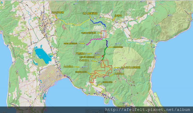 002、軌跡標示-2016.12.23 門馬羅山、大尖石山、小尖石山丘稜草原