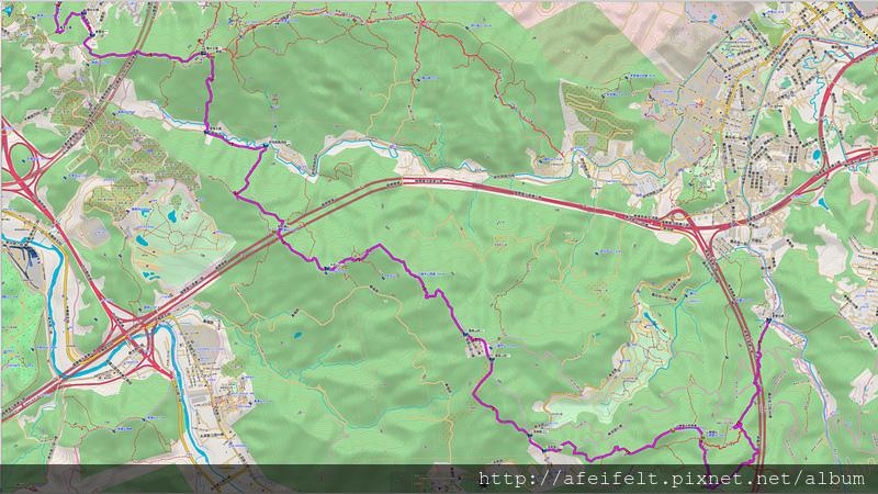 017、標示規劃:「更寮古道-土庫岳-山豬窟尖-拇指山-糯米古道」規劃路線圖二