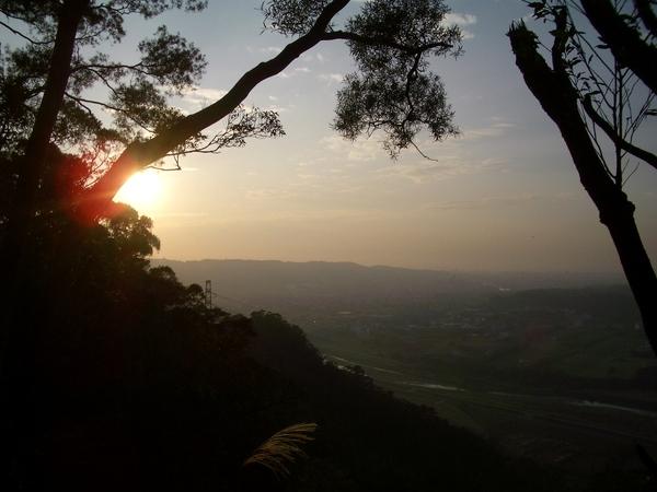深秋的夕陽