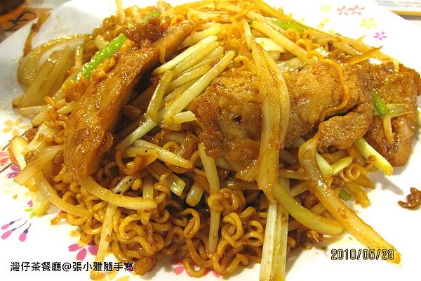 XO醬豬扒炒公仔麵
