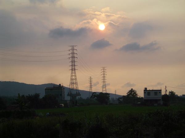 傍晚的夕陽