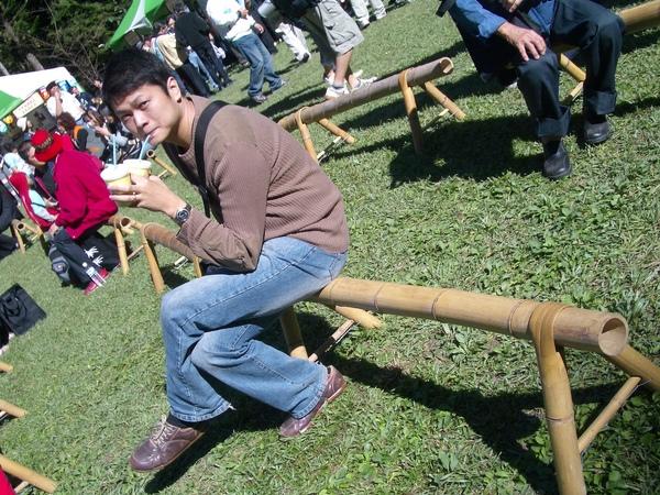 椅子也是竹子作的