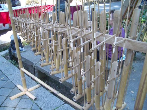 竹子作的琴