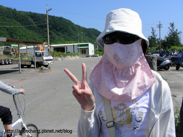 一到綠島馬上去買大口罩