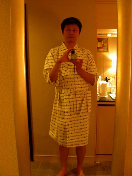 房間內有日式浴衣