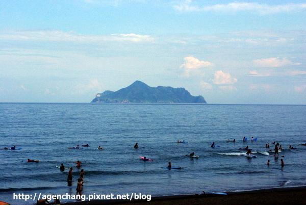 蜜月灣的龜山島