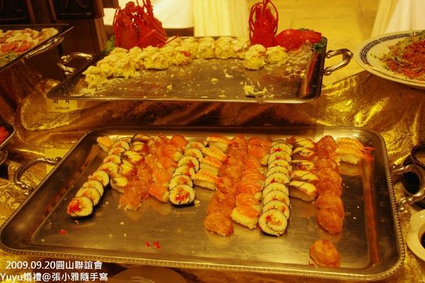 各式握壽司和龍蝦沙拉
