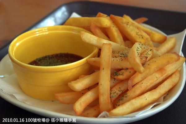 還有炸薯條-有番薯和馬鈴薯兩種
