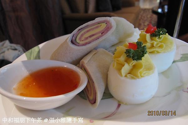 第二層:冷食,有越式春捲、火腿起士捲、跟好吃的蛋