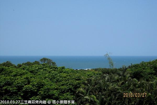 二樓陽台可以看到海