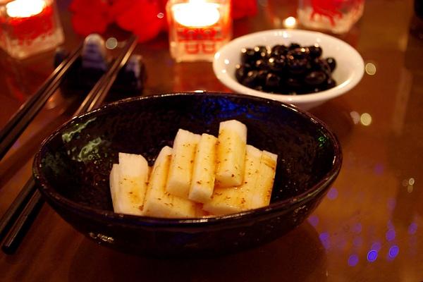拼盤菜色:和風山藥、佃煮黑豆