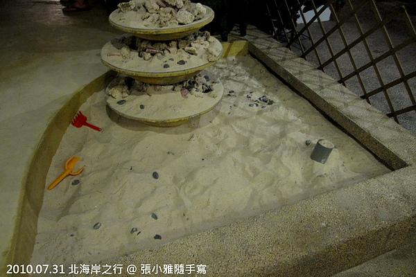 一進門就有塊沙地