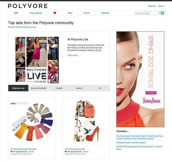 Polyvore 網站企劃
