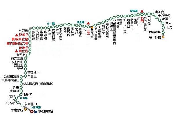 865公車 - 捷運淡水站-茂林