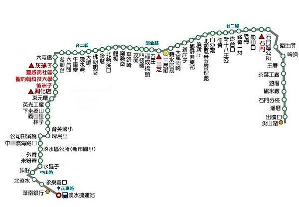 867公車 - 捷運淡水站-尖山湖