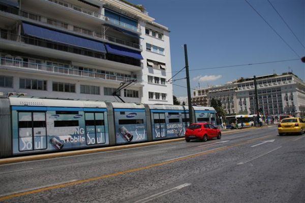 Syntagma前之tramway