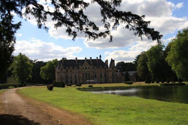 城堡內花園的湖