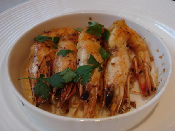 Westin Le terrace-前菜之蝦