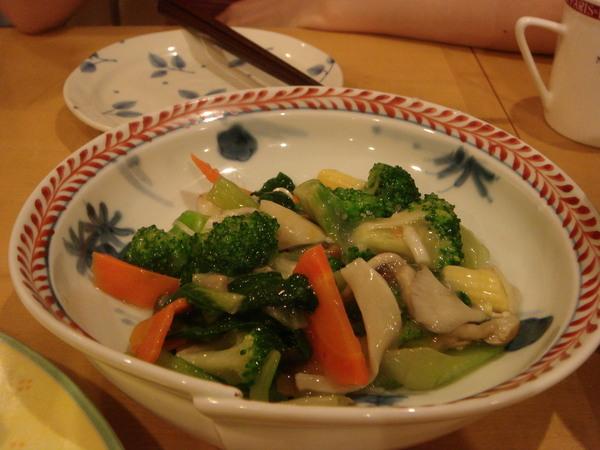 SOGO地下街桂林的炒青花菜