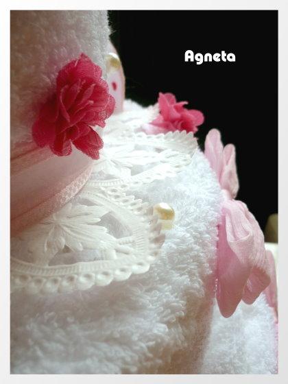 有蛋糕的蕾絲紙