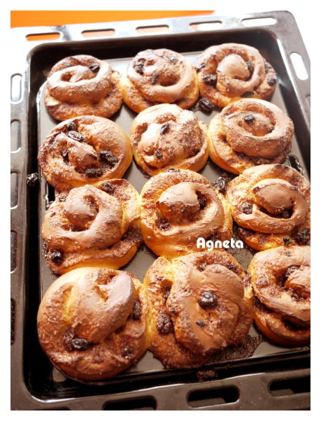 葡萄乾肉桂捲 cinnamon rolls with rasins